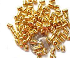 100 Groovie Gold Plated Tube Beads Bead