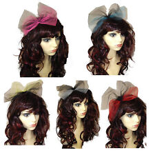 80s Alice Band,Pop Star Bow,Hen Party, 80s fancy dress, Oversized Bow, 5 colours