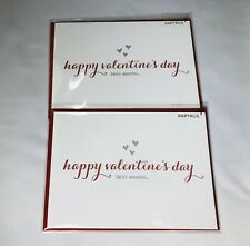 Papyrus -2 Happy Valentine's Day Letterpress Card With Envelopes