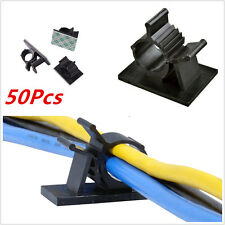 50Pcs Adjustable Car Wire Cable Clips Clamps Fastens Organizer 3M Self-Adhesive