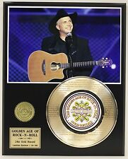 "GARTH BROOKS ""THE DANCE"" GOLD RECORD LTD EDITION LASER ETCHED WITH SONG'S LYRIC"