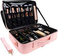 New ListingTravel Makeup Bag 3-Layers Train Cosmetic Case Organizer Portable Artist Storage