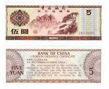 CHINA Foreign Exchange Certificate UNC 5 Yuan Banknote (1979) P-FX4 ZM prefix