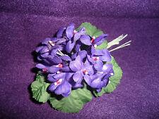 Vintage Purple Silk Violet Bunch - Tagged Korea