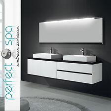 Modern II Double Badmöbel Waschtisch Badkeramik Spiegel Badezimmer Waschbecken