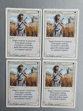 Swords to Plowshares x4 playset, MTG Revised (1994) Uncommon White Instant