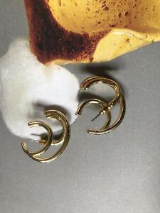 Gold Illusion Triple Hoop Earrings (minimal very cos weekday)