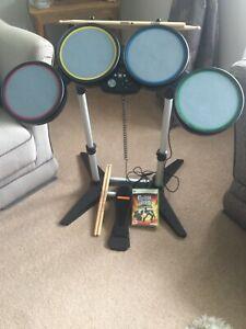 Xbox 360 Drums Guitar Hero Game