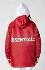 * Out* Fear of God X Pacsun Essentials Hooded Coach Jacket Red L Large