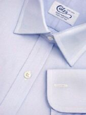 Cotton No Pattern Double Cuff Regular Formal Shirts for Men