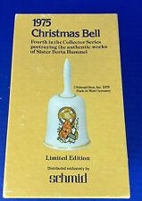 Christmas Bell Sister Berta Hummel Art 1975 Baby Jesus with Halo Precious Child