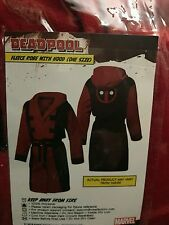 OSFM Marvel Comics & Robe Factory Deadpool Men's Cosplay Bathrobe UNRELEASED NWT