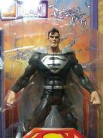 Superman Action Figure Black Suit S3 Select Sculpt Series DC Super Heroes