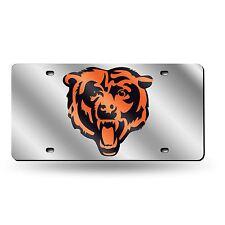 Rico NFL Chicago Bears Laser Cut Mirror Auto Tag Car License Plate LZS