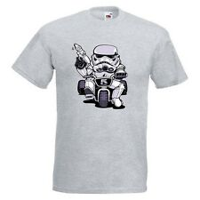 Little Trooper Mens PRINTED T-SHIRT Storm Trooper Tricycle Star Wars Empire