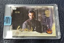 2018 Topps Star Wars Archives Signature Riz Ahmed As Bodhi Rook Autographe #