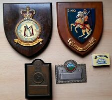More details for 4 vintage raf wall plaques / trophies