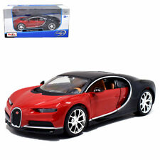 Maisto 1:24 Bugatti Chiron Diecast Model Roadster Car New in Box Red