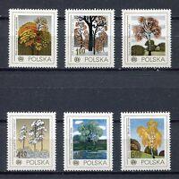 35942) Poland 1978 MNH Trees 6v