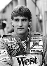 Bernd Schneider SIGNED, F1 Zakspeed Portrait 1988