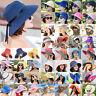 Womens Summer Big Wide Brim Straw Hat Holiday Beach Sun Prosecution Foldable Cap