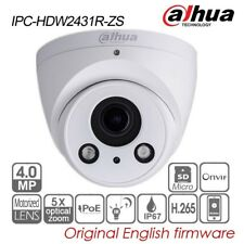 Dahua 4MP Eyeball IP Security Camera 5X VF Motor PoE H265 IR P2P IPC-HDW2431R-ZS