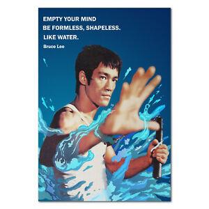 "1999 Wizard Bruce Lee Poster #3422 D6019 Artist Yuan Lee 24x36/"" Never Displayed"