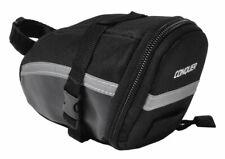 Conquer Wedge Bicycle Saddle Bag / Bike Seat Bag Black
