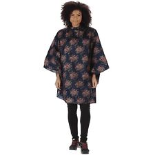 REGATTA SUMMER ISOLITE WATERPROOF PONCHO NAVY FLORAL RWW104