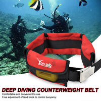 4 Pocket Scuba Diving Weight Belts Dive Spare Pouch Dive Kit Snorkeling    !VD