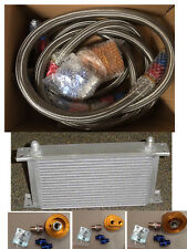 19 RAW OIL COOLER + RELOCATION BRAIDED LINE KIT SUIT RB30 VL COMMODORE SKYLINE