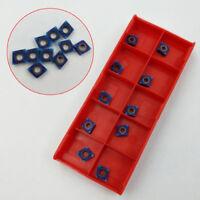 10X 2.5mm Blue Nano Coating CCMT060204-HM Carbide Insert CNC Lathe Blade Cutter