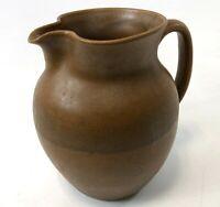 "RARE W J Gordy Signed Studio Art Pottery Natural Brown Handmade 7"" Jug Pitcher"
