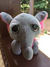 Inter-American Products Gray Big Eyes 👀 Elephant 🐘 Plush Stuffed Toy Animal
