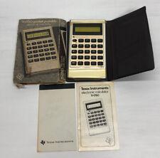 Vintage 1977 Texas Instruments Electronic Pocket Portable Calculator