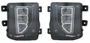 Left & Right Side LED Fog Light Assembly For 2016-2018 Chevrolet Silverado 1500