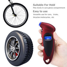 Digital Tire Pressure Guage Car Bike Truck Auto Lcd Meter Tester Gauge Red