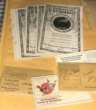 Vintage Northwestern School of Taxidermy,9 Lessons Complete,Letters,Eyes,Rar e