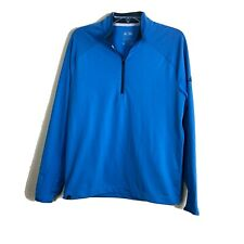 Adidas Climacool Men's Size S Blue Zip Up Sweatshirt Top Long Sleeve Sweater 62K