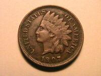 1907 Indian Head Penny Cent Ch EF+ Original Crusty Brown Tone