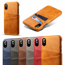 Shockproof Leather Back Case Cover With Card Slot Holder For iPhone 11 7 6 Plus