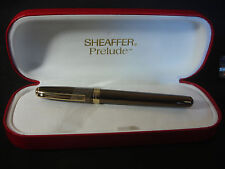 Shaeffer Prelude Brown Gold Tone Roller Ball Pen With Original Box