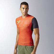 Abbigliamento da uomo arancione Reebok per palestra, fitness, corsa e yoga