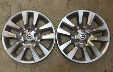 "Pair Of 2 53088 New Nissan Altima Hubcaps Wheel Cover 16"" 2013 2014 2015"