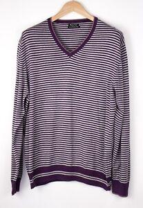 MASSIMO DUTTI Men Extrafine Cotton Sweater Jumper Size XXL (44) ARZ258