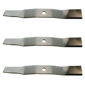 "Set of 3 XHT Mower Blades to fit 54"" Fits John Deere M135334 M143520 M144652"