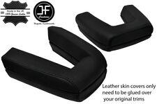 BLACK STITCH ROLL OVER BAR REAL LEATHER COVERS FITS BMW Z4 E85 ROADSTER 03-09