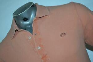 18658-a LACOSTE Polo Shirt Size Medium or EUR 5 Vintage Washed Pink Mens