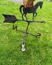 """VINTAGE WEATHERVANE HORSE 26"""" Tall Great Condition"""