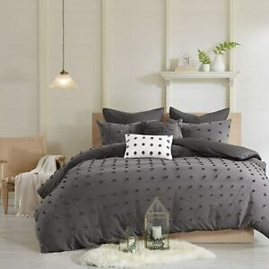Urban Habitat Brooklyn 7 Piece King California King Comforter Set Charcoal Gray